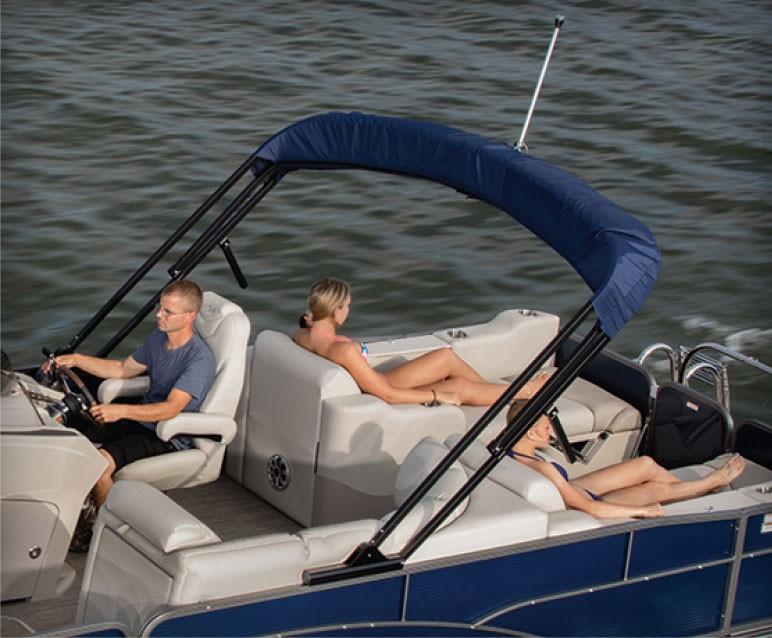Pontoon Boat Enclosures >> 2018 Manitou® Aurora Angler LE Pontoon Boat | Options ...